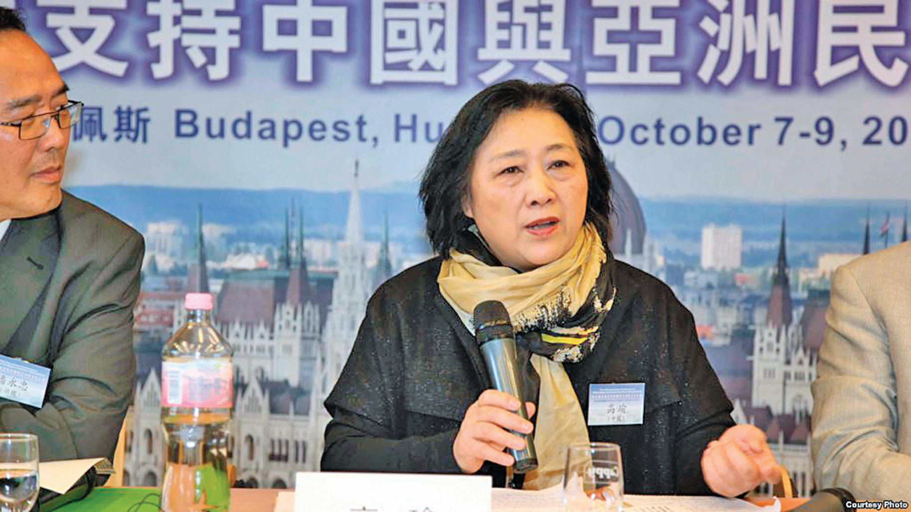 75歲的中國知名女記者高瑜。( VOA)