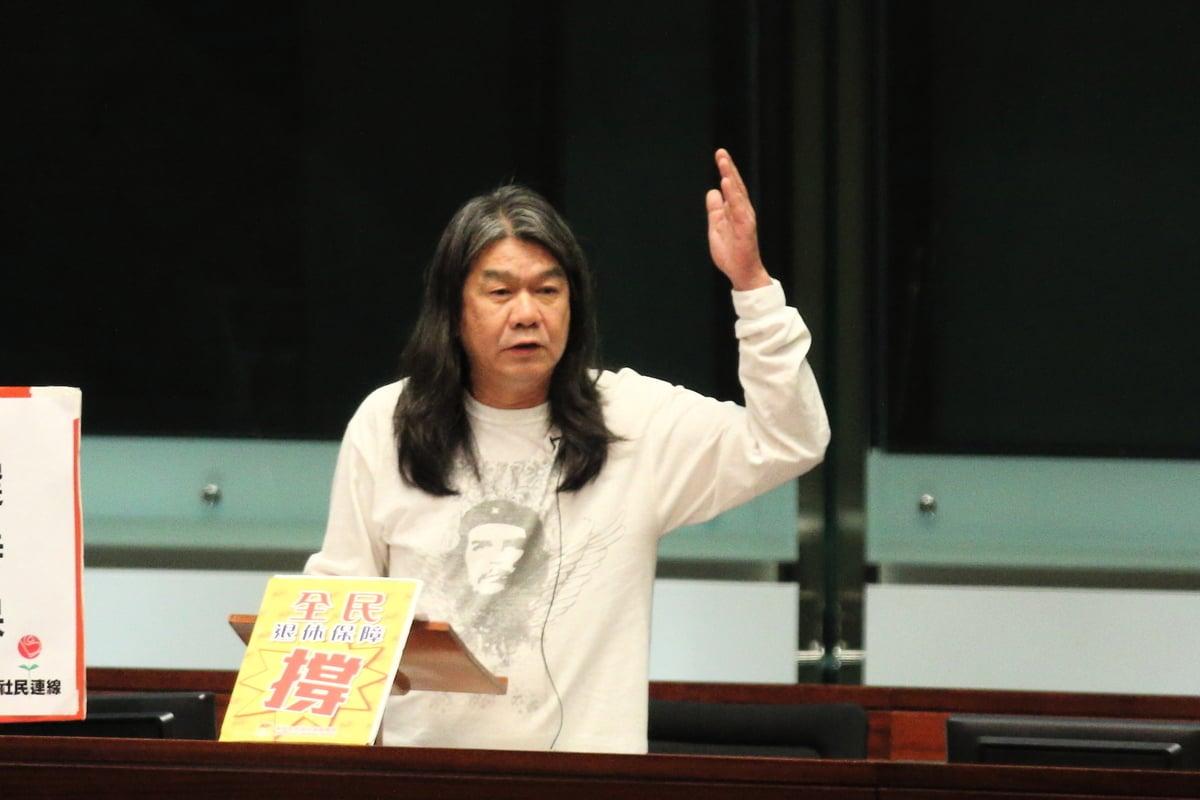 梁國雄表示:「欲加之罪、何患無辭」。他表示仍未決定會否參選9月的立法會選舉,不評論會否有影響。(大紀元資料圖片)