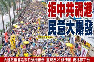13萬人上街反引渡惡法 拒中共禍港 民意大爆發