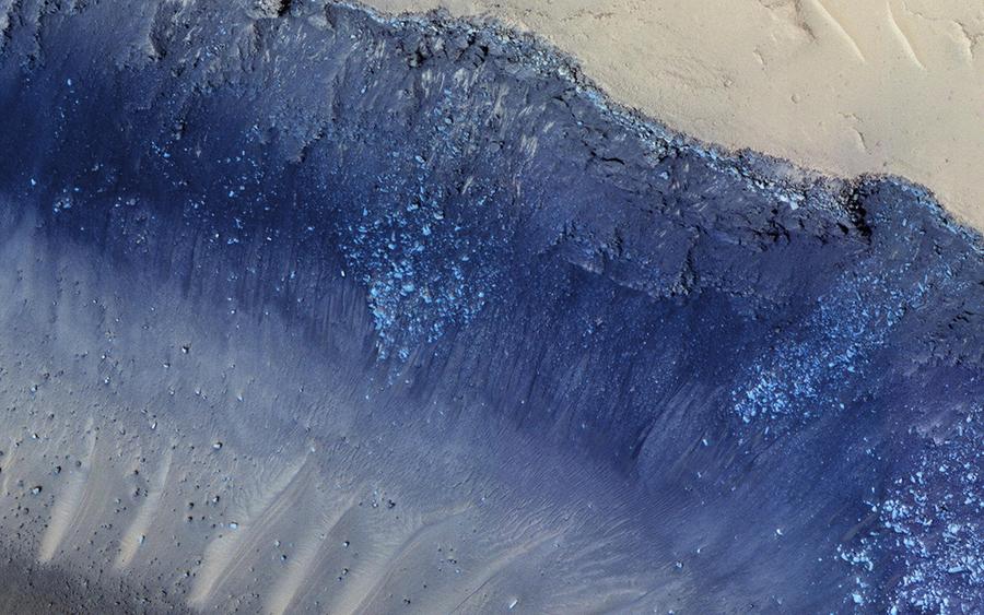 NASA公佈火星壯觀土石流照片