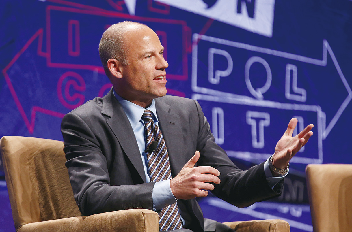 因幫艷星「暴風女」Stormy Daniels與特朗普總統打官司而出名的律師邁可阿文納蒂因多項罪名在曼哈頓家中被捕。(Getty Images)
