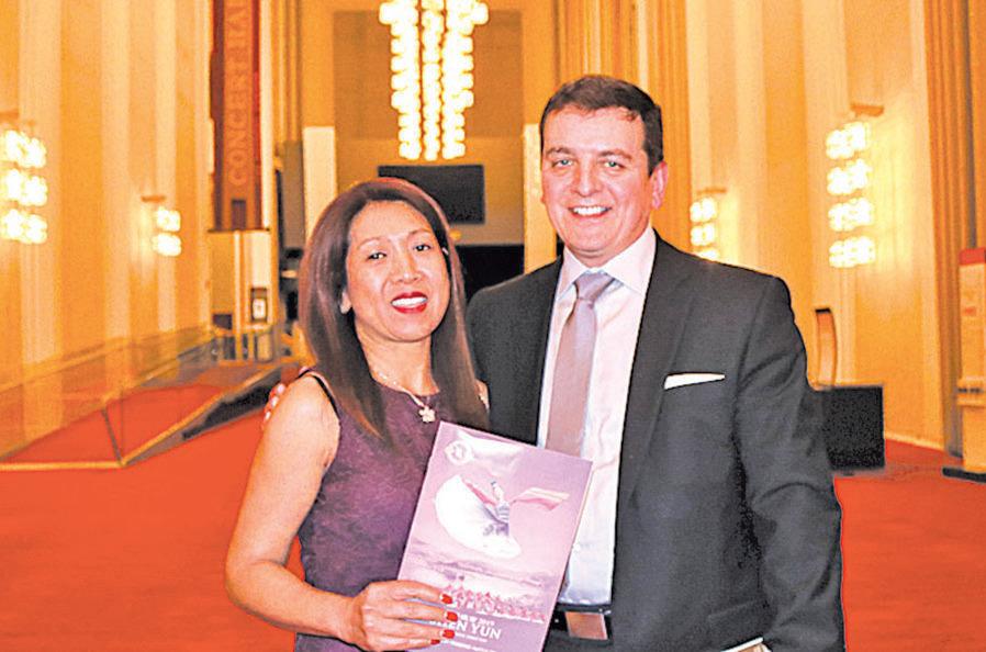 DGC International執行董事切尼和太太。(亦平/大紀元)