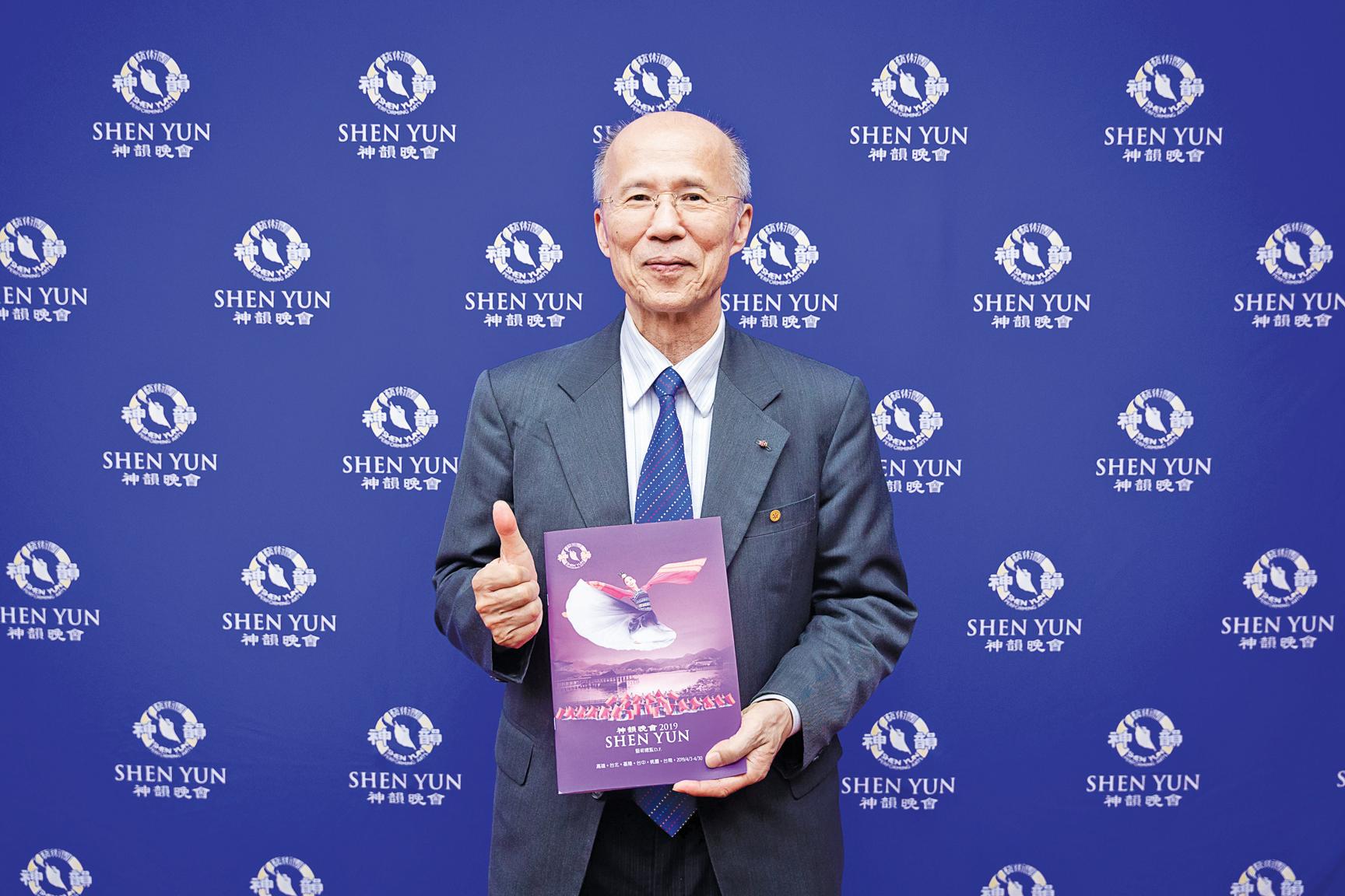 中法比瑞文化經濟協會理事長、前駐法代表呂慶龍。(陳柏州/大紀元)