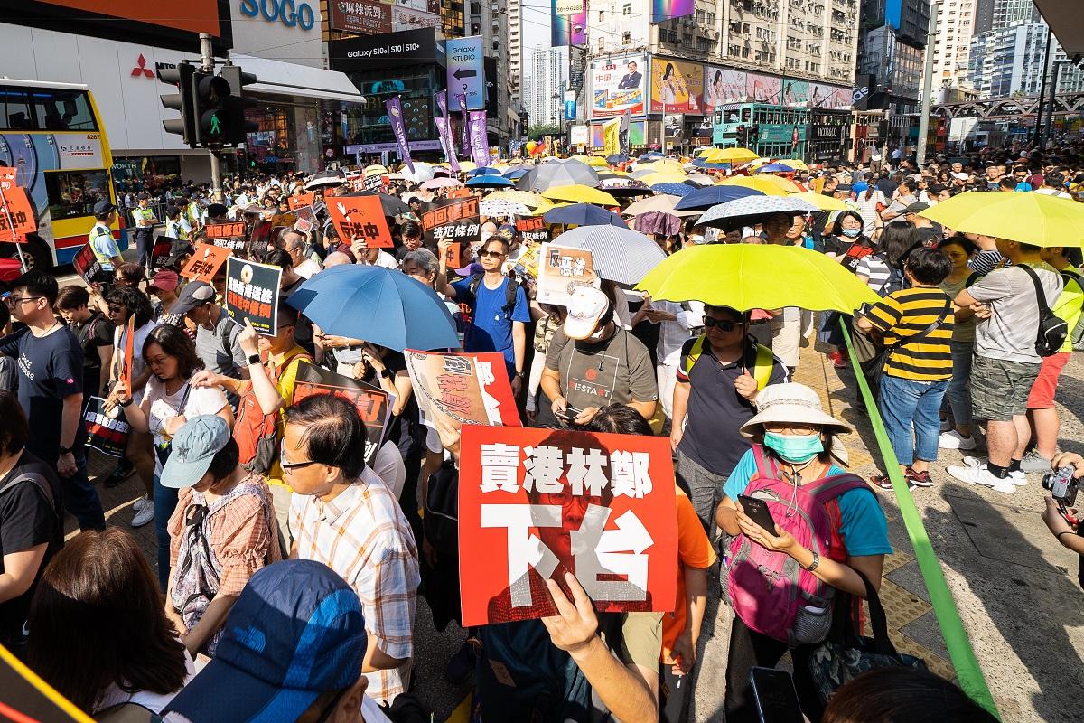 4月28日13萬港人上街反引渡惡法,要求特首林鄭月娥下台。(大紀元資料圖片/李逸)