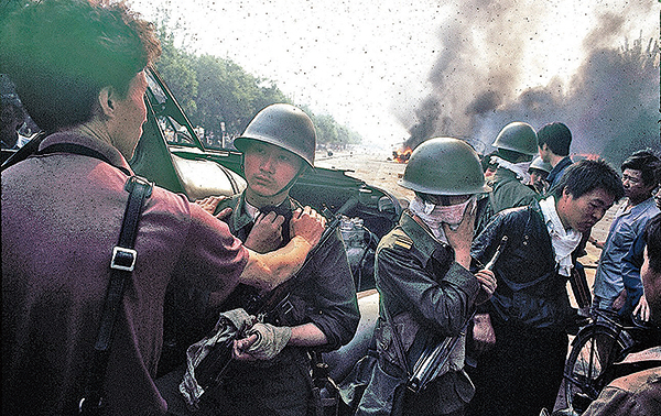1989年六四屠城現場之一。(Jian Liu提供)