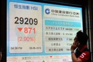 恐慌性拋售 中港股市遭遇「黑色星期一」