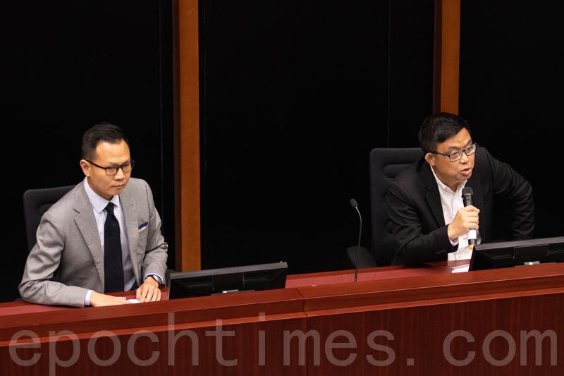 涂謹申和郭榮鏗分別獲選為法案委員會的正副主席。(蔡雯文/大紀元)