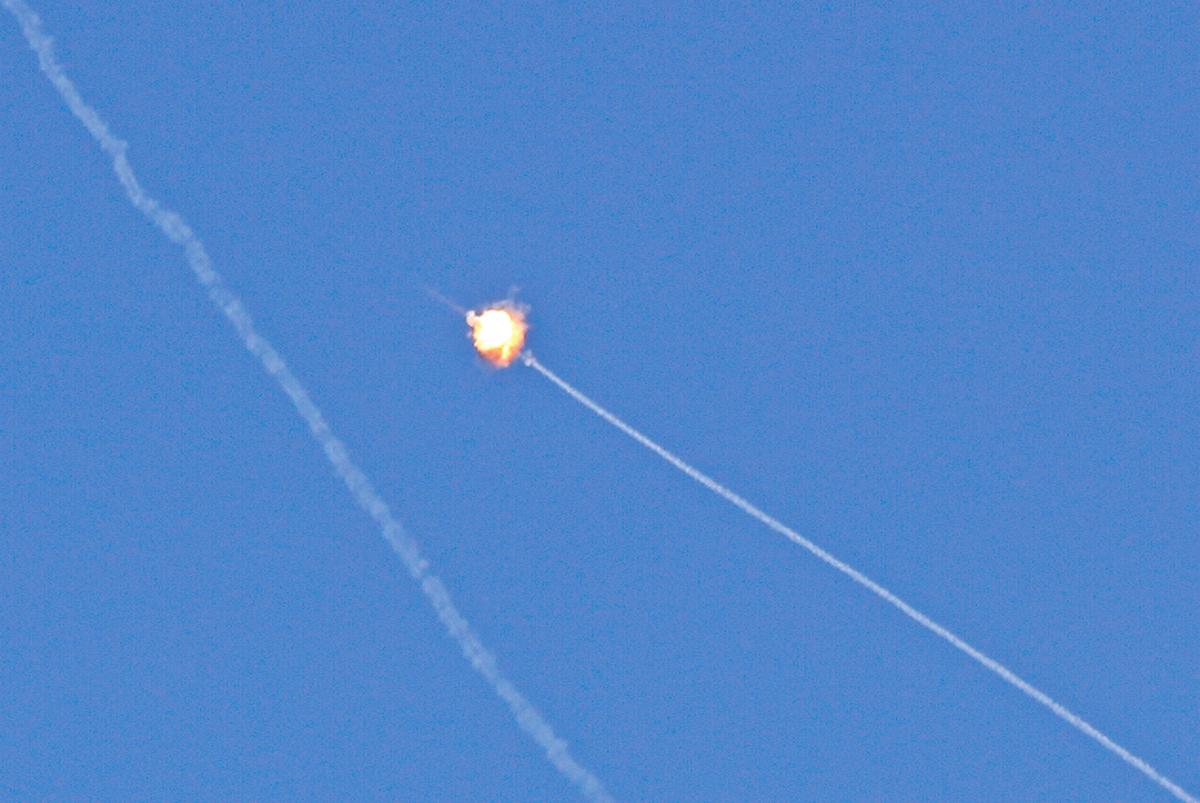從3日開始,巴勒斯坦超過600枚火箭攻擊以色列南部。(AFP)