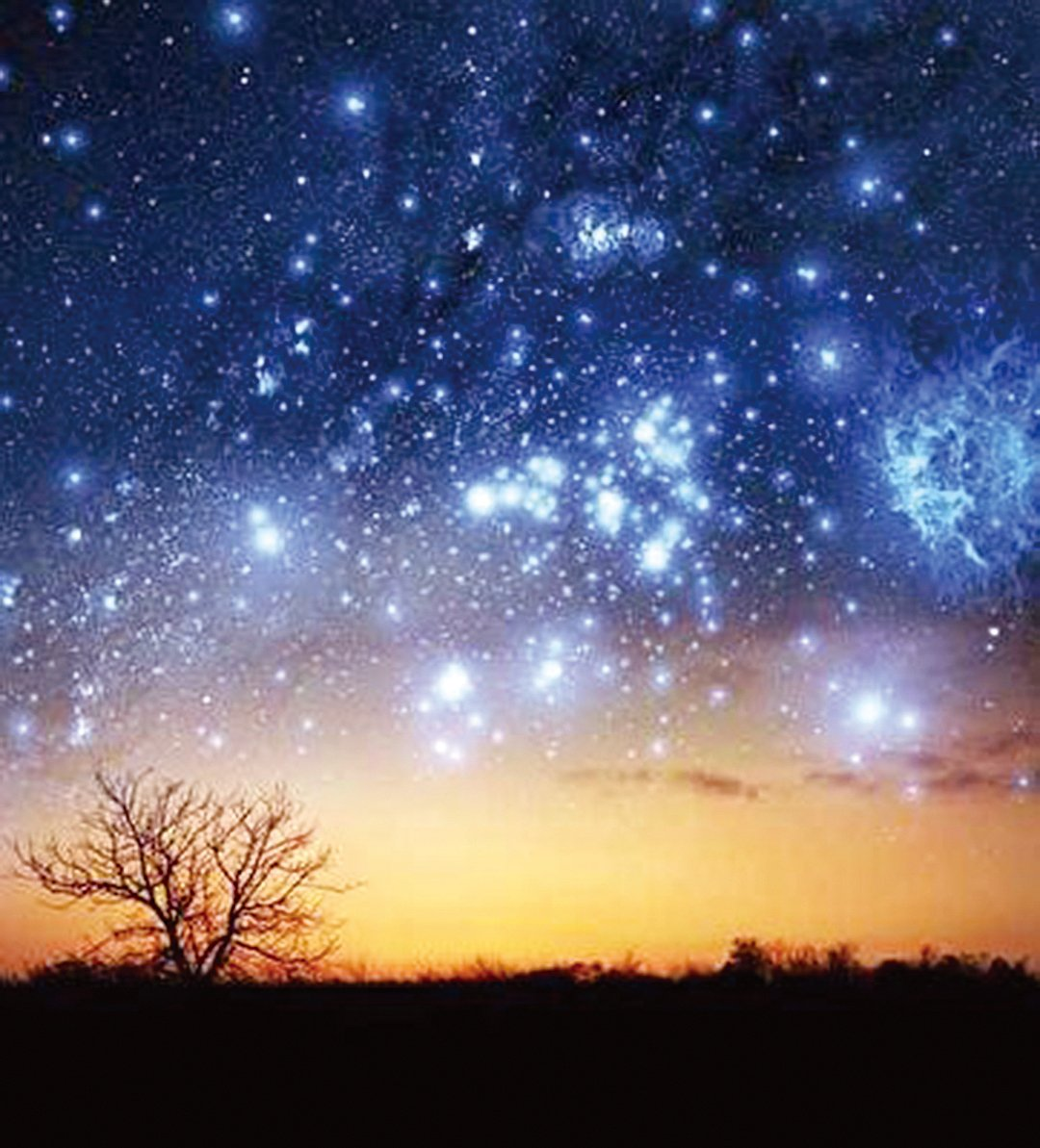 夜晚,他露宿在野外,看著漫天的星斗,想起龐大的日月星辰的運轉,還有甚麼放不下的呢?(fotolia)