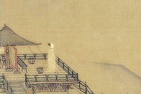 倚闌目送繁雲去(wikimedia commons/SOH合成)