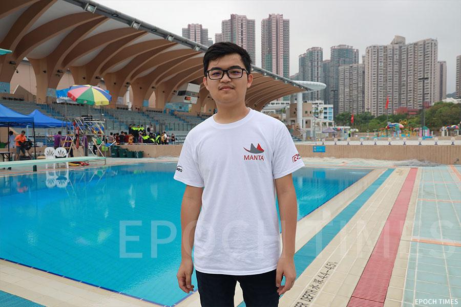 香港科技大學EPOXSEA團隊CEO David Sun。(陳仲明/大紀元)
