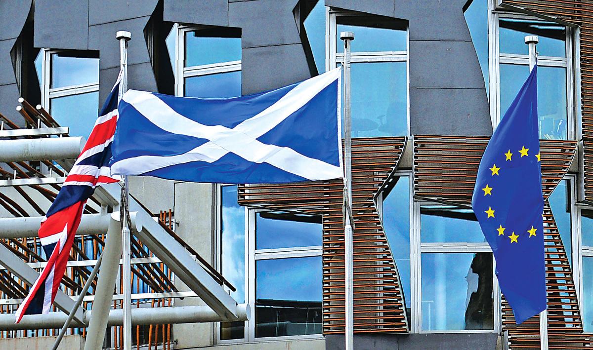 英國公投脫歐後,引致漣漪效應,使歐盟不少成員國皆生離心。近日蘇格蘭首席大臣亦重提獨立公投。(Getty Images)