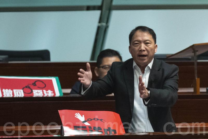 胡志偉批評林鄭堅持修例,是忘記一國兩制的本質,將對香港人的保障扭曲為漏洞,認為她已不配做香港人的特首,要求她辭職下台。(李逸/大紀元)