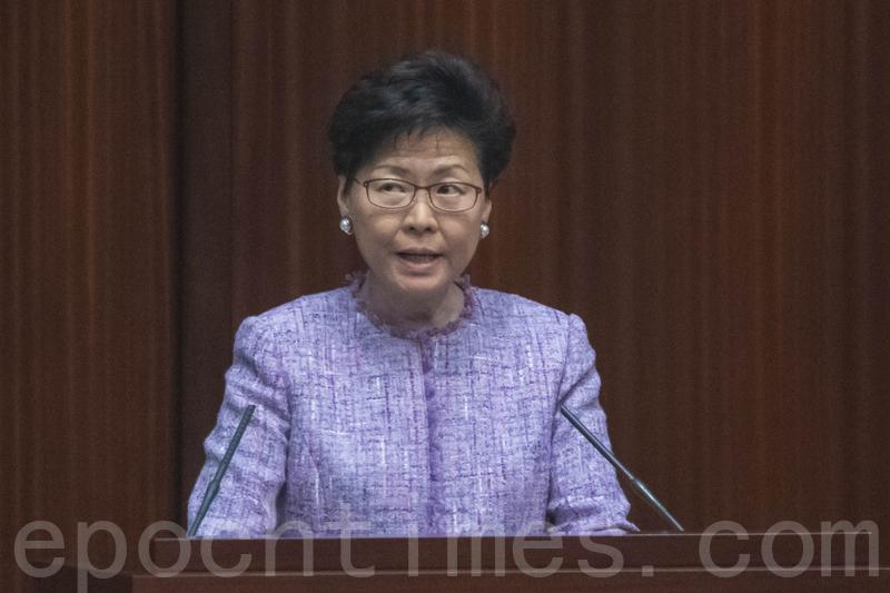 林鄭月娥出席立法會答問會時,繼續為修訂《逃犯條例》辯解,多名民主派議員就此提出質疑。(李逸/大紀元)