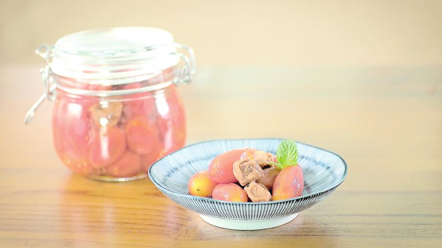 清爽好吃的梅漬番茄