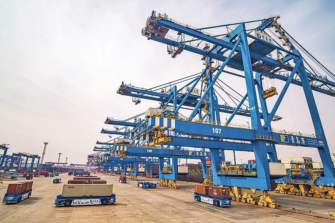 圖為中國青島港口。(Getty Image)