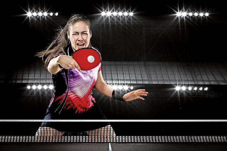 乒乓球機器人助人類選手提高競技