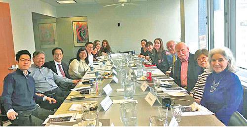當地時間5月11日早上,李柱銘一行到Human Rights Watch與美國多個人權組織開會。(李卓人FB圖片)
