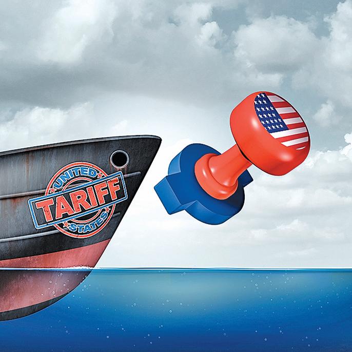 美國的關稅措施將對中國經濟產生眾多方面的影響。(Shutterstock)