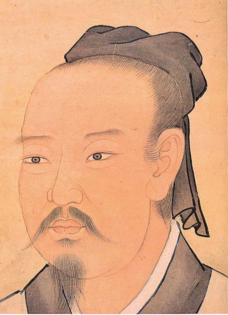 晉太保建昌公謝安,清宮殿藏畫本 (公有領域)