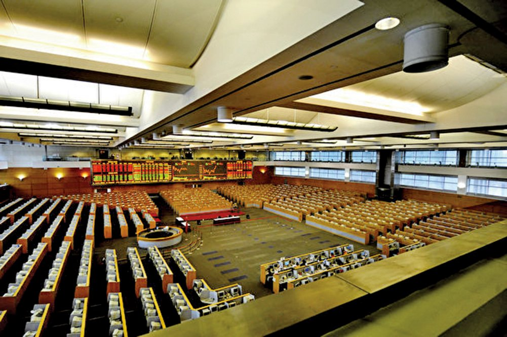 被曝花650萬美元讓女兒上史丹福大學的山東富豪趙濤所經營的步長製藥遭到上海證券交易所監管機構的審查。圖為上海證券交易所。(Getty Images)