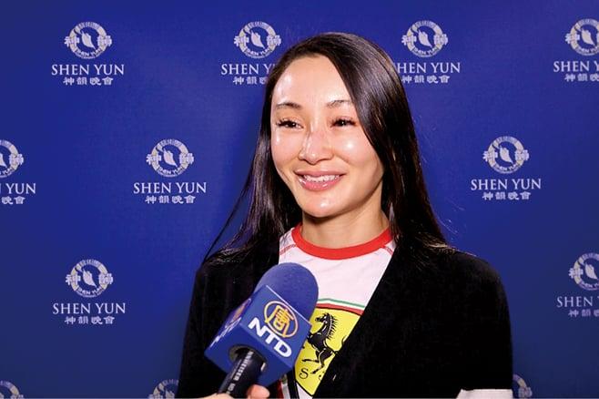 2003年中國「十佳廣告模特」,畢業於北京舞蹈學院的鄭安妮女士。(新唐人電視台)
