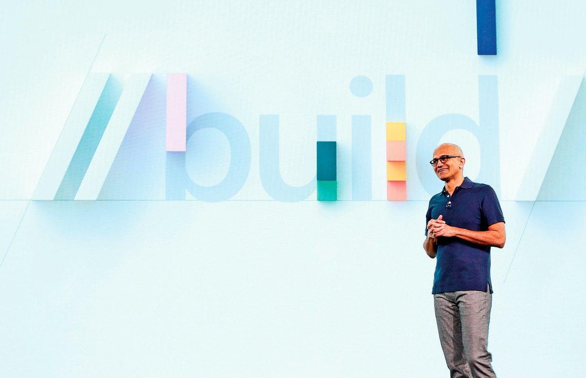 微軟開發者大會5月6日西雅圖召開,執行長納德拉做主題演講。(Microsoft)