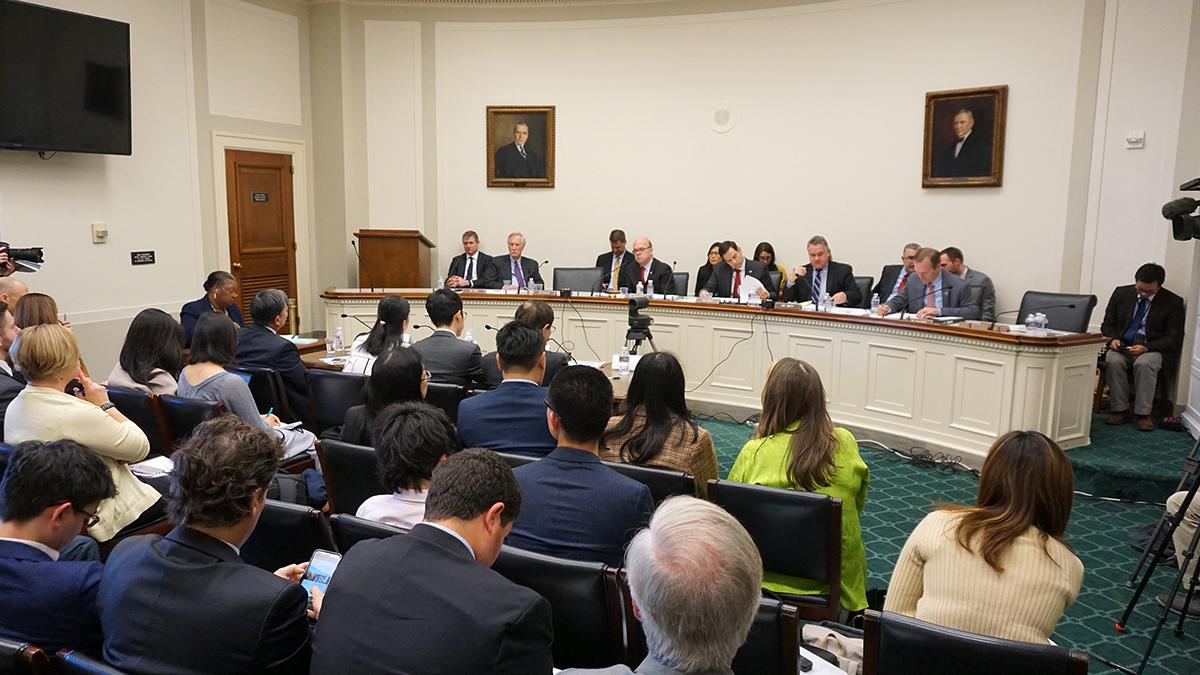 美國國會及行政當局中國委員會針對港府擬修訂《逃犯條例》,舉辦聽證會。(方明/大紀元)