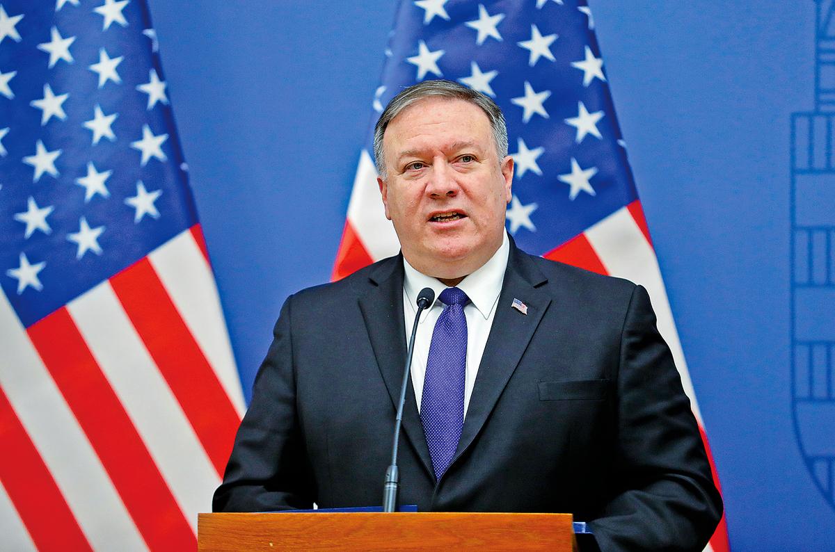 美國務卿蓬佩奧說:「互聯網的明天必須不能屬於中國(中共)。」(Getty Images)