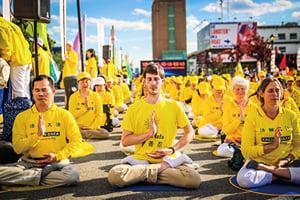 法輪功在紐約中領館前呼籲停止迫害