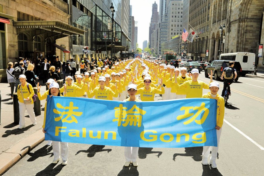 法輪功曼哈頓大遊行 華人震撼感佩