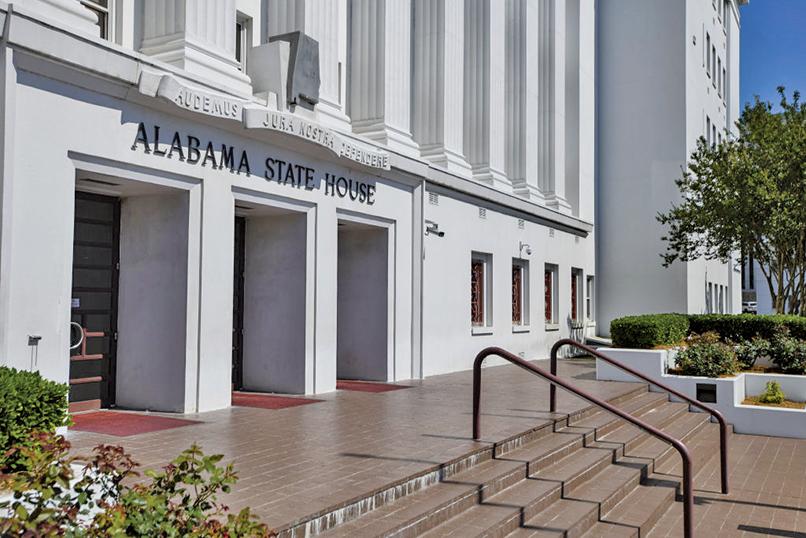 5月15日美國阿拉巴馬州議會通過了嚴格限制墮胎法。圖為該州議會大廈。(Getty Images)