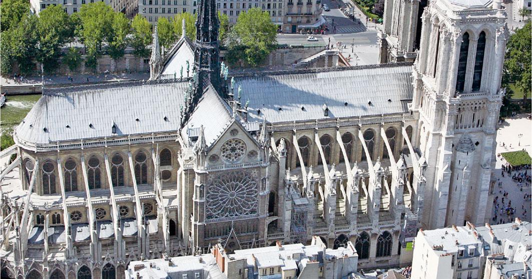 巴黎聖母院鳥瞰圖。(LOIC VENANCE/AFP/Getty Images)