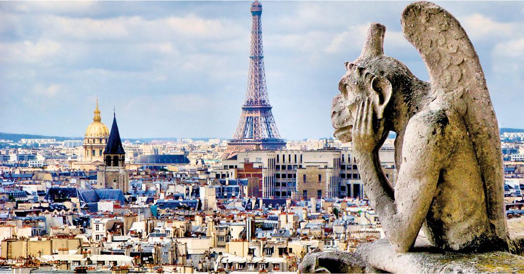 巴黎聖母院人氣最高的怪物界沉思者「思提志」(Stryge)。(JeniFoto/shutterstock)