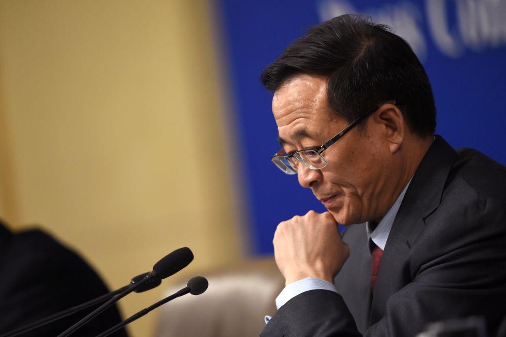 中紀委19日公布,中證監前主席劉士余涉嫌違紀違法,目前正在配合調查。資料圖 (Photo credit should read WANG ZHAO/AFP/Getty Images)
