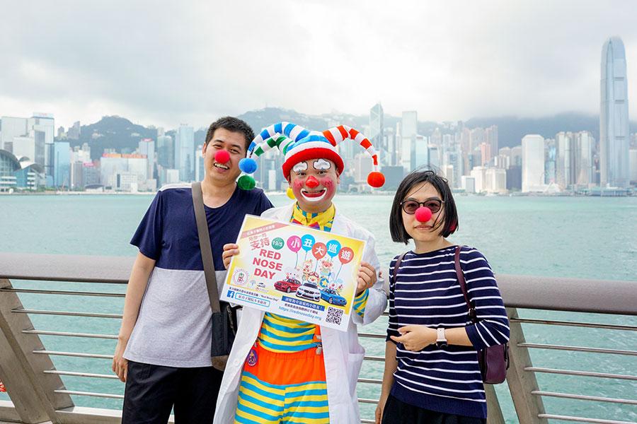小丑王Ken Ken大派「紅鼻子」。(饒宗頤文化館提供)
