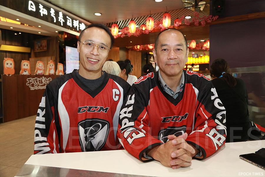 父子檔教練詹志安(右)、詹喬壹(左)。(陳仲明/大紀元)