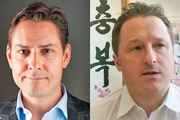 加拿大前外交官康明凱(左)與公民斯派沃(右)。(VOA)
