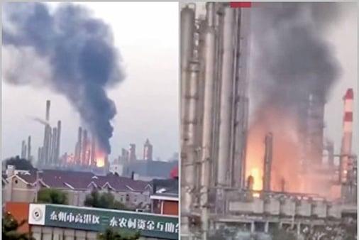 江蘇化工廠液體洩漏 引發大火