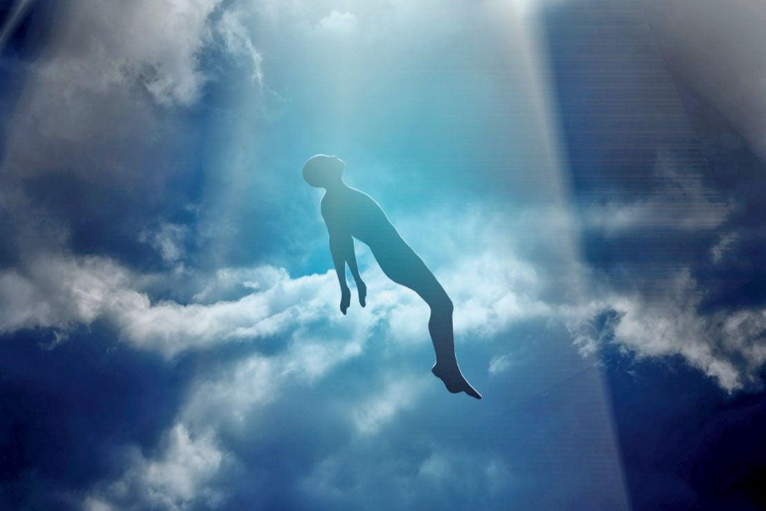「旋轉著的天音和白光將我從那裏拯救出來。」示意圖。(Anton Watman/Shutterstock)