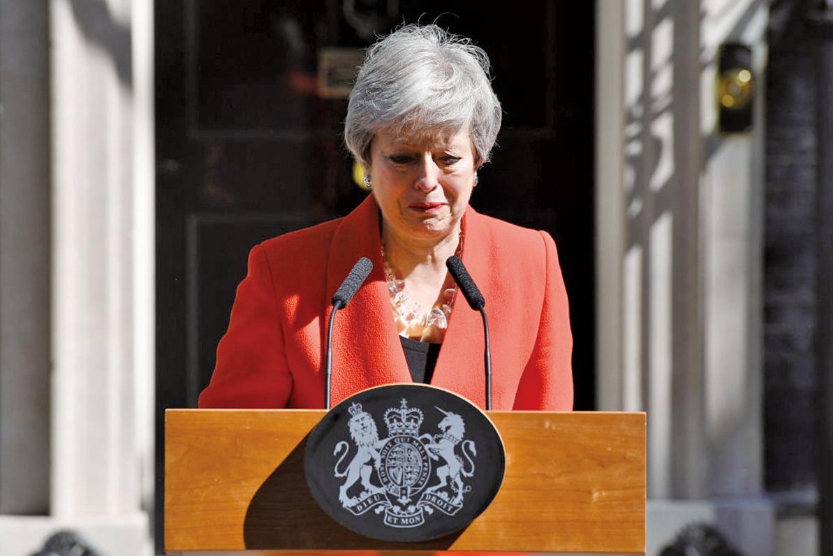 英國首相文翠珊(Theresa May)宣佈她將於6月7日辭去保守黨領袖的職務。(Getty Images)