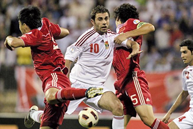 2011年世界盃亞洲區預選賽20強賽,中國男足客場1-2不敵約旦。(Getty Images)