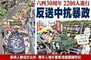六四30周年  2200人遊行  反送中抗暴政