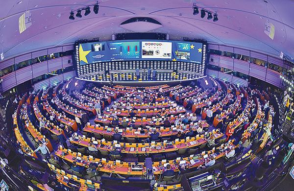 歐洲議會五年一次的換屆選舉周日(5月26日)落下帷幕。(Getty Images)