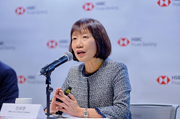 滙豐私人銀行亞洲區首席市場策略師范卓雲表示,預計美國明年9月及12月將會分別減息一次。(宋碧龍/大紀元)