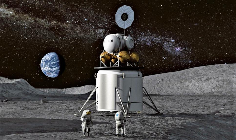 NASA新登月計劃藝術假想圖。(NASA)