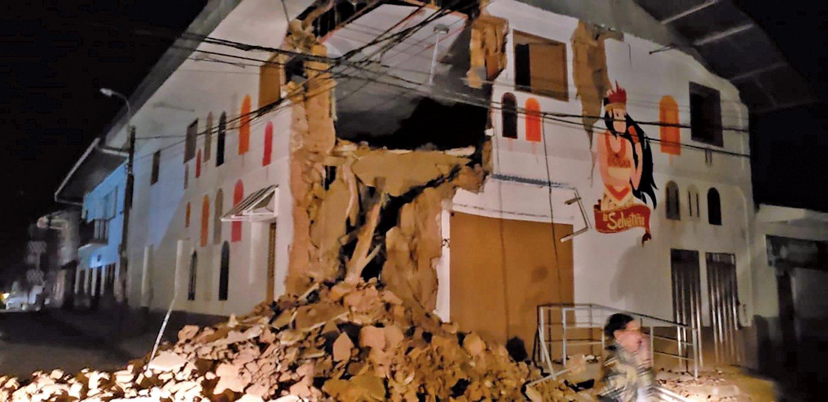 秘魯北部周日(5月26日)發生8級大地震。這是自2007年以來最大的地震。(AFP)