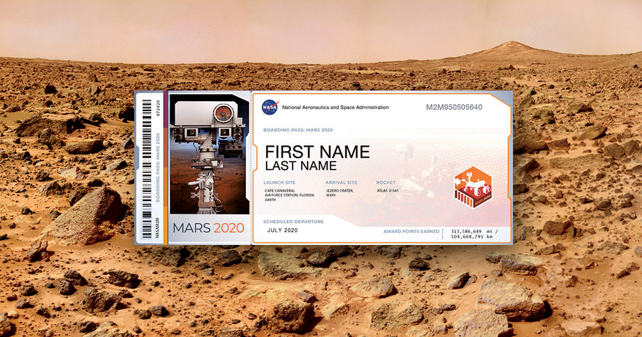 NASA再次邀請地球居民「留名」火星