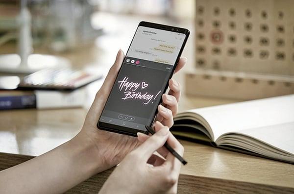三星電子推出Note系列旗艦新機Galaxy Note8,搭載三星史上最高規格的相機。(三星提供)