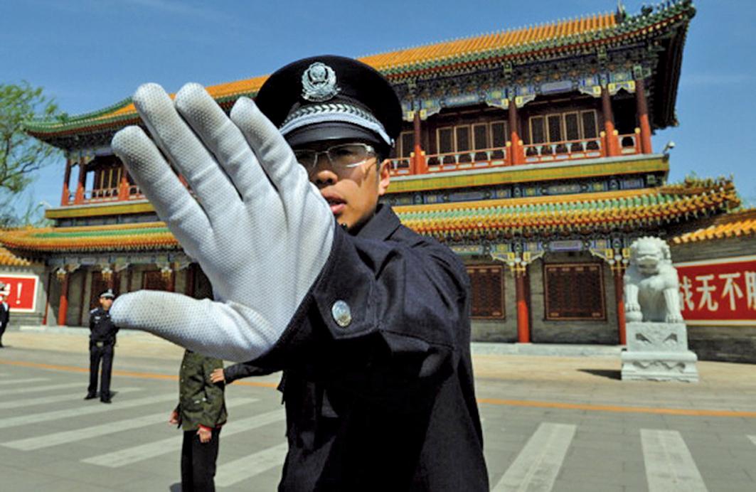 中南海新華門外。(Getty Images)